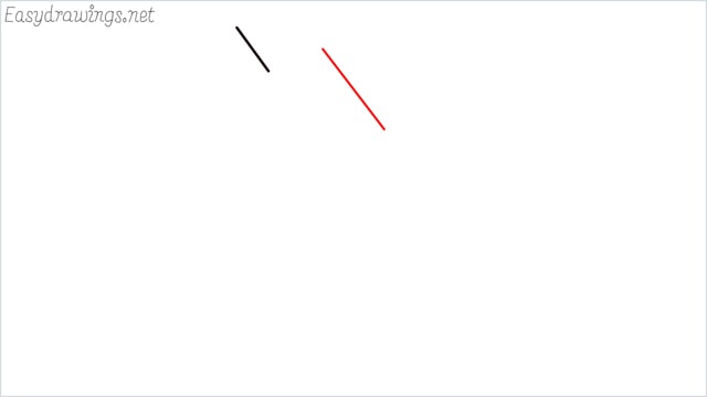 how to draw a simple leaves step (2)