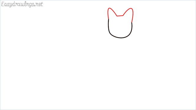 how to draw a sitting cat (2)