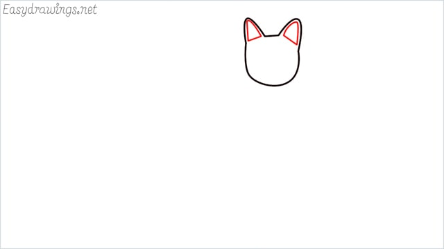 how to draw a sitting cat (3)