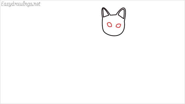 how to draw a sitting cat (4)