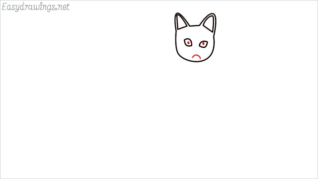 how to draw a sitting cat (5)