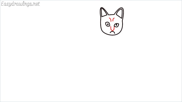 how to draw a sitting cat (6)