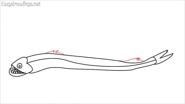 how to draw a viperfish step (8)