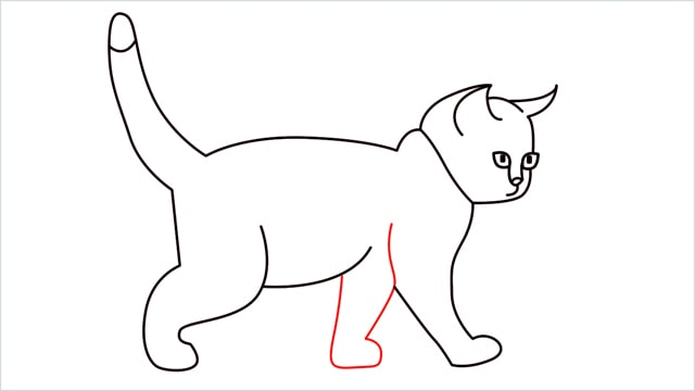 how to draw a walking baby cat (10)
