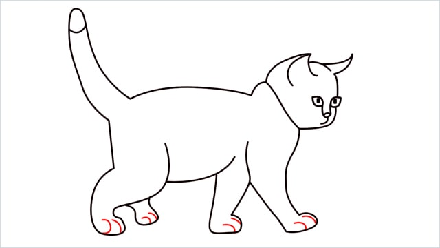 how to draw a walking baby cat (12)