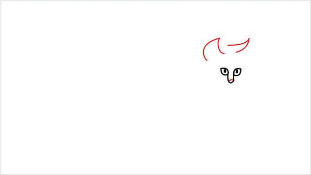 how to draw a walking baby cat (3)