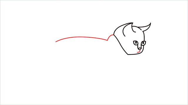 how to draw a walking baby cat (6)