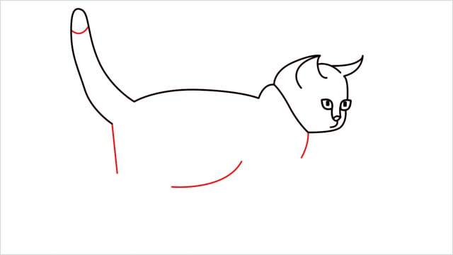 how to draw a walking baby cat (8)