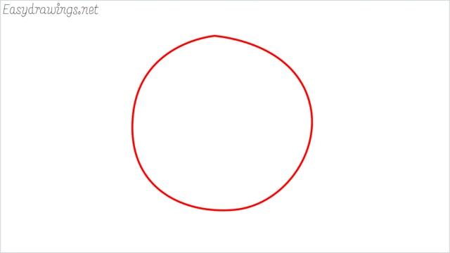 how to draw coronavirus step (1)