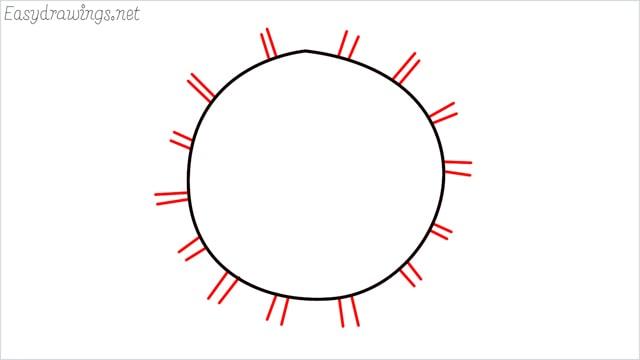 how to draw coronavirus step (2)
