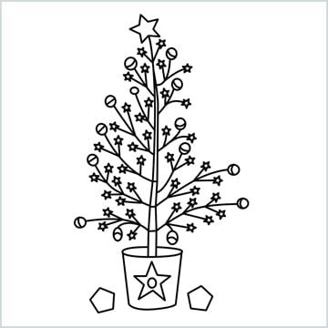simple christmas drawing