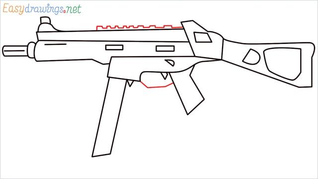 How to draw ump9(ump45) step (10)