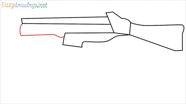 How to draw ump9(ump45) step (5)