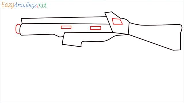 How to draw ump9(ump45) step (6)