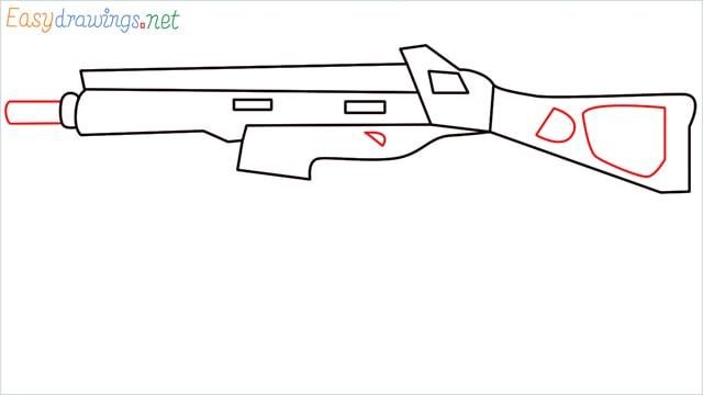 How to draw ump9(ump45) step (7)