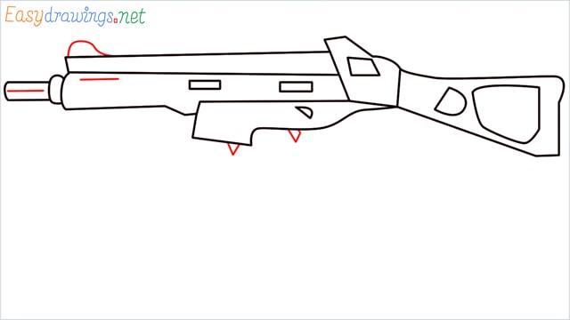 How to draw ump9(ump45) step (8)