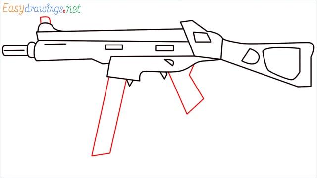 How to draw ump9(ump45) step (9)