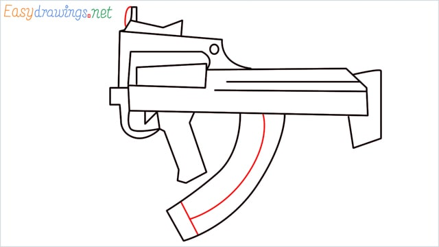 how to draw a groza gun step (10)