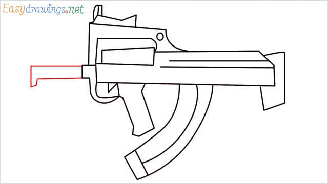 how to draw a groza gun step (11)