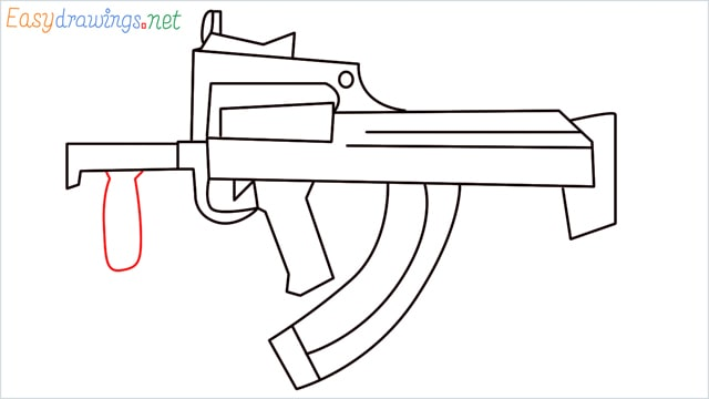 how to draw a groza gun step (12)