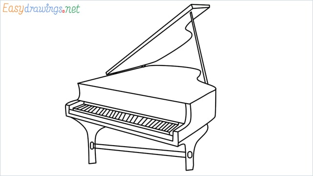 How To Draw A Piano Step By Step 12 Easy Phase Video