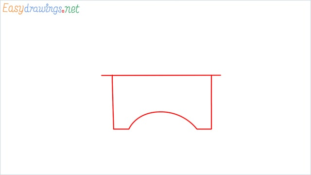 how to draw a school step (1)