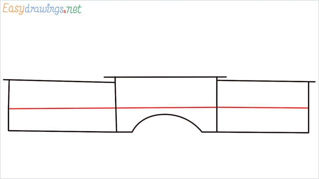 how to draw a school step (3)