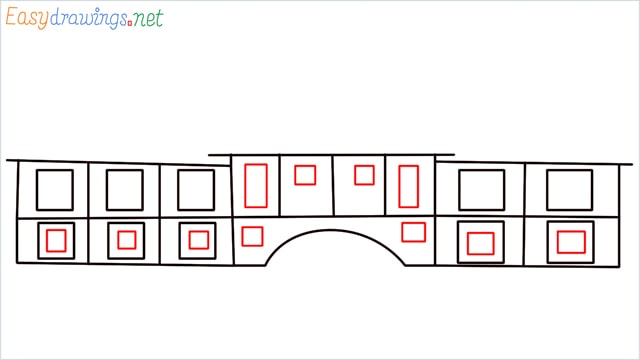 how to draw a school step (6)