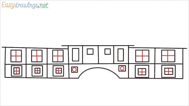 how to draw a school step (7)
