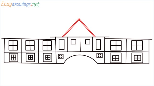 how to draw a school step (8)