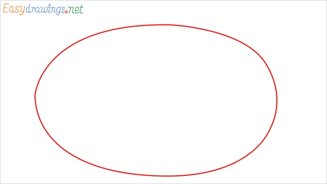 how to draw a watermelon step (1)