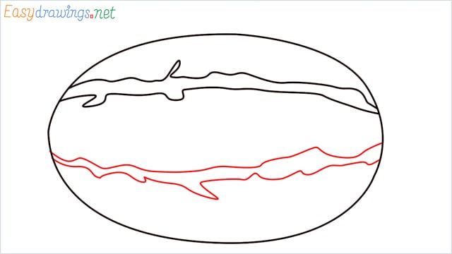 how to draw a watermelon step (3)