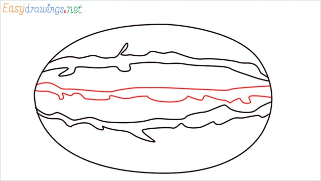 how to draw a watermelon step (4)