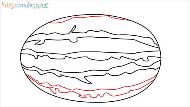 how to draw a watermelon step (5)