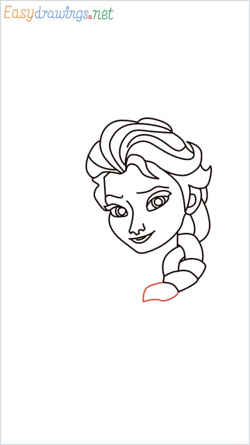 how to draw elsa step (20)