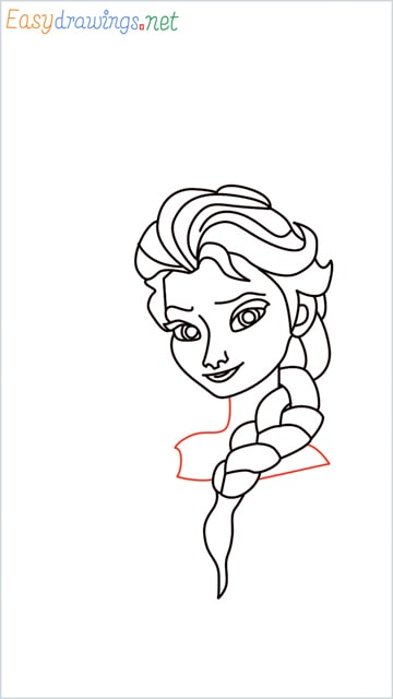 how to draw elsa step (24)