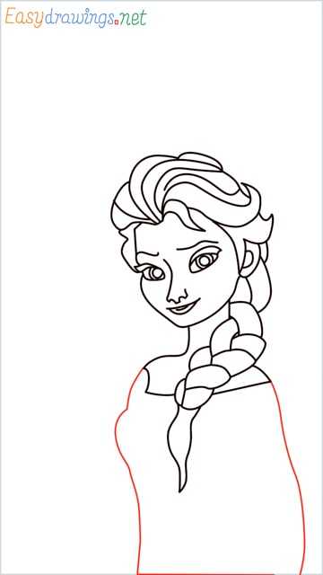 how to draw elsa step (25)