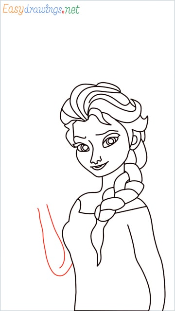 how to draw elsa step (27)