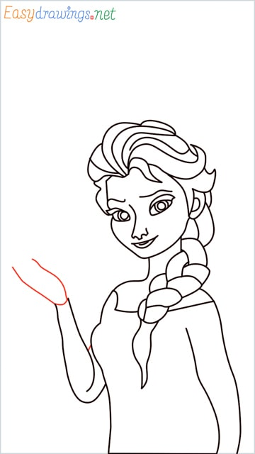 how to draw elsa step (28)