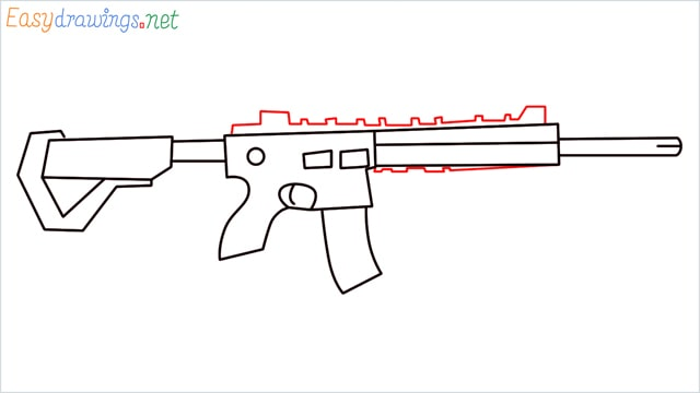 how to draw m416 step (10)