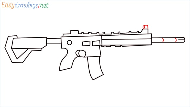 how to draw m416 step (11)