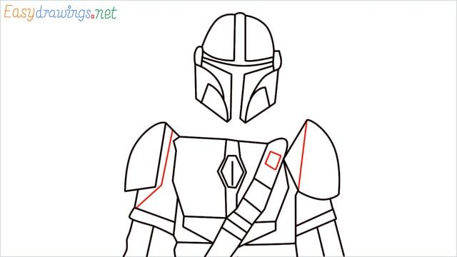 how to draw mandalorian step (14)