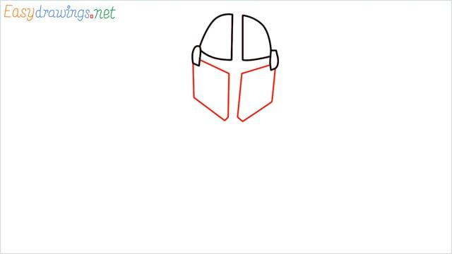 how to draw mandalorian step (3)