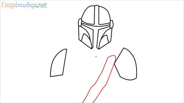 how to draw mandalorian step (7)