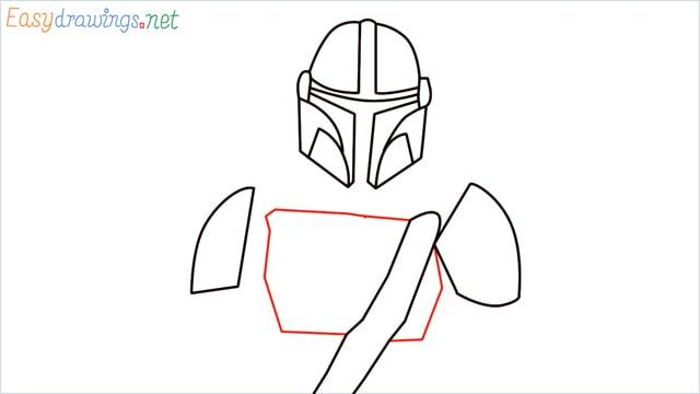 how to draw mandalorian step (8)