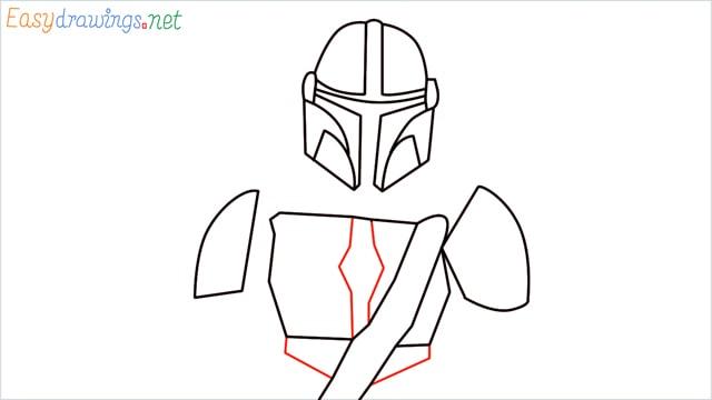 how to draw mandalorian step (9)