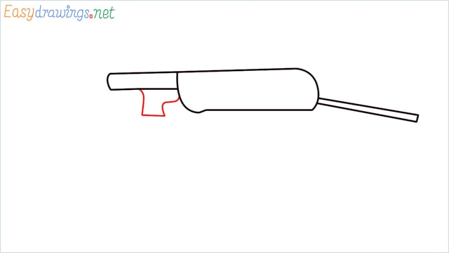 how to draw mp40 step (3)