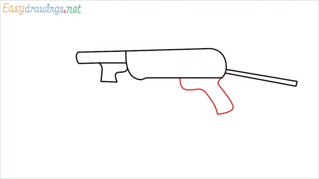 how to draw mp40 step (4)