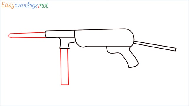 how to draw mp40 step (5)