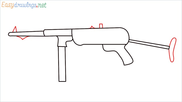 how to draw mp40 step (6)